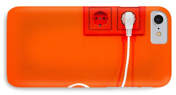 Plugged In IPhone Case by Alexey Stiop