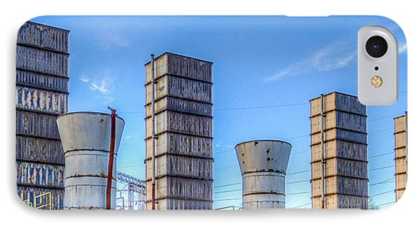 Electric Stacks IPhone Case by MJ Olsen
