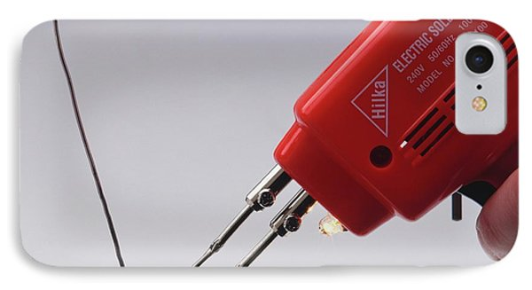 Electrical Soldering Iron With Solder IPhone Case by Dorling Kindersley/uig