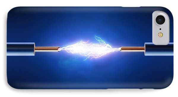 Electric Current / Energy / Transfer IPhone Case by Johan Swanepoel