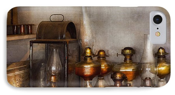 Electrician - A Collection Of Oil Lanterns  Phone Case by Mike Savad
