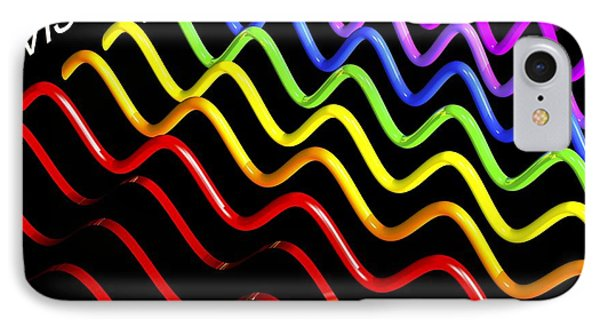 Electromagnetic Spectrum, Artwork IPhone Case by Russell Kightley