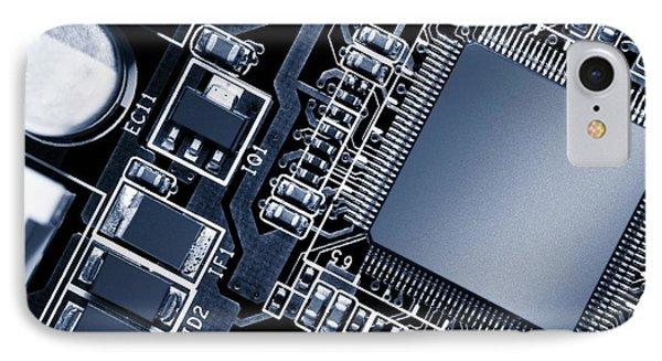 Electronic Circuit IPhone Case by Wladimir Bulgar