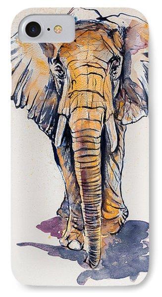 Elephant In Gold IPhone Case by Kovacs Anna Brigitta