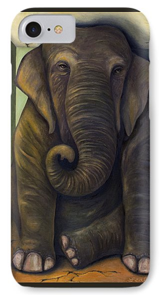 Elephant In The Room IPhone Case by Leah Saulnier The Painting Maniac