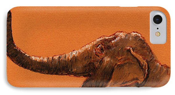 Elephant Indian IPhone Case by Juan  Bosco