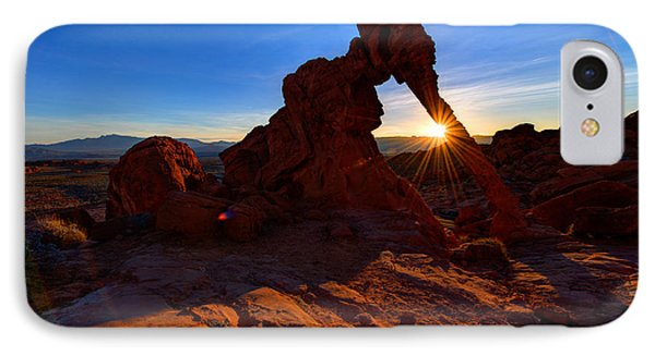 Elephant Sunrise IPhone Case by Chad Dutson