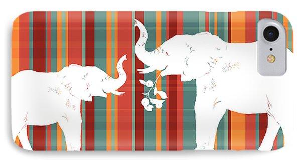 Elephants Share IPhone Case by Alison Schmidt Carson