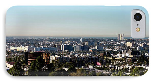 Elevated View Of City, Los Angeles IPhone 7 Case by Panoramic Images