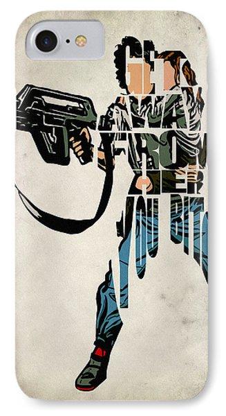 Ellen Ripley From Alien IPhone Case by Ayse Deniz
