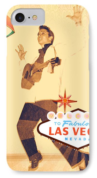 Elvis On Tv IPhone Case by Michelle Dallocchio