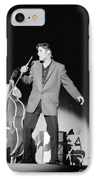 Elvis Presley And Bill Black 1956 IPhone Case by The Phillip Harrington Collection