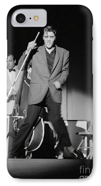 Elvis Presley And Bill Black Performing In 1956 IPhone Case by The Phillip Harrington Collection