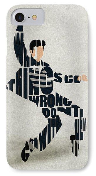 Elvis Presley IPhone 7 Case by Ayse Deniz