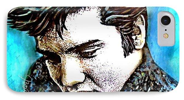 Elvis Presley Never Left The Building Alcohol Inks IPhone Case by Danielle  Parent