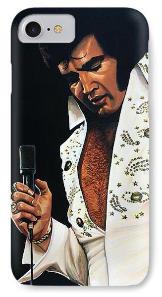 Elvis Presley Painting IPhone Case by Paul Meijering