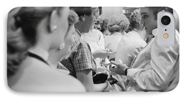 Elvis Presley Signing Autographs At The Fox Theater 1956 IPhone Case by The Phillip Harrington Collection