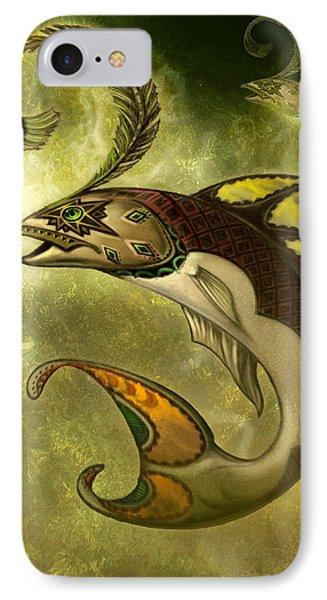 Emerald Fish Phone Case by Jeff Haynie