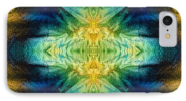 Emerald Kiss Abstract Art By Sharon Cummings IPhone Case by Sharon Cummings