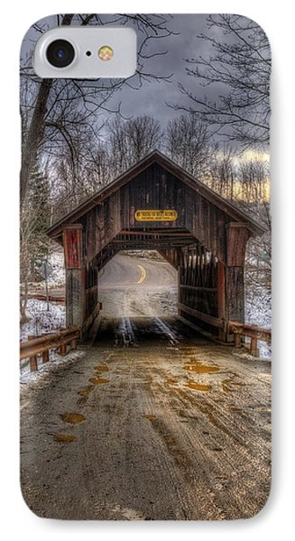 Emily's Bridge - Stowe Vermont IPhone Case by Joann Vitali