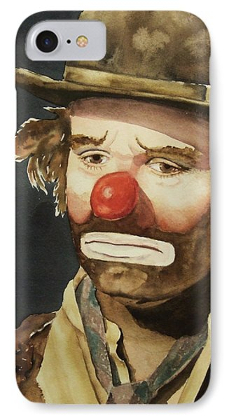Emmett Kelly IPhone Case by Greg and Linda Halom