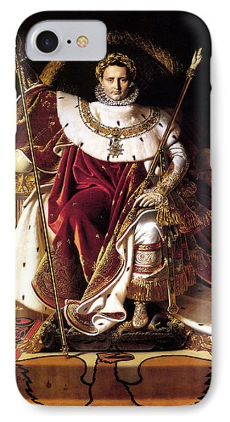 Emperor Napoleon I On His Imperial Throne Phone Case by War Is Hell Store