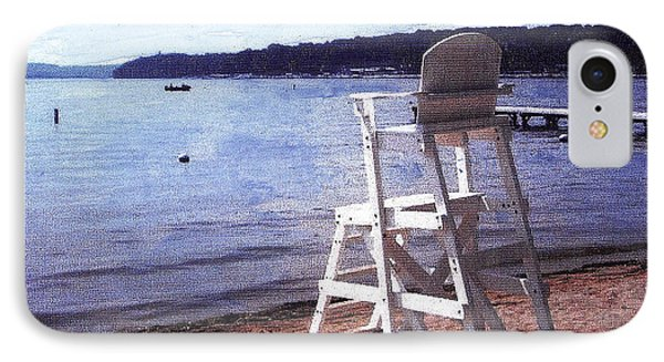 Empty Lake Empty Beach Summer's Out Of Reach  Williams Bay  Wi IPhone Case by Jane Butera Borgardt