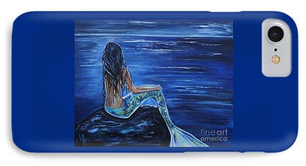 Enchanting Mermaid IPhone Case by Leslie Allen