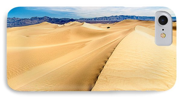Endless Dunes - Panoramic View Of Sand Dunes In Death Valley National Park IPhone Case by Jamie Pham