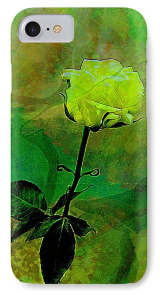 Enduring Yellow Rose Phone Case by Shirley Sirois