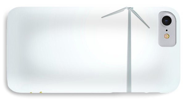 Engineers And Wind Turbine IPhone Case by Andrzej Wojcicki