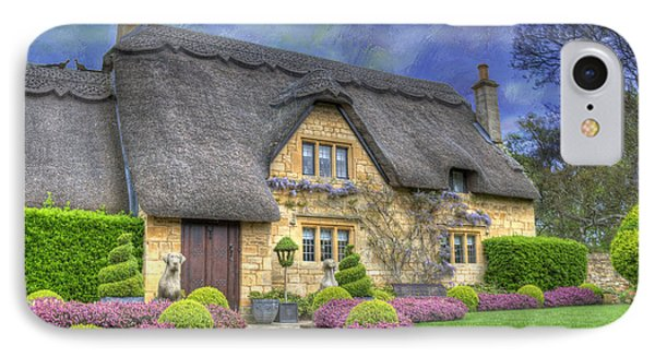 English Country Cottage IPhone Case by Juli Scalzi