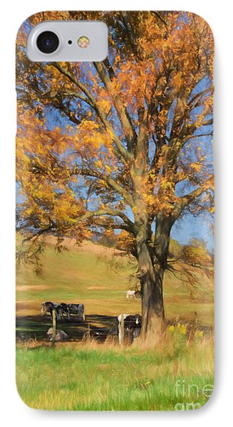 Enjoying The Autumn Shade IPhone Case by Lois Bryan