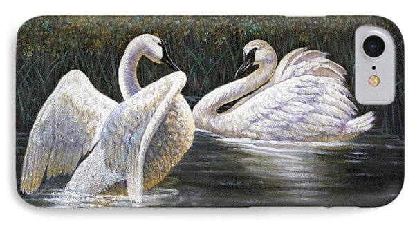 Enjoying The Trumpeter Swans IPhone Case by Gregory Perillo