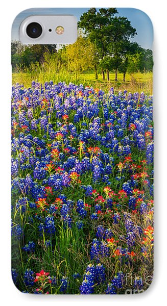 Ennis Bluebonnets IPhone Case by Inge Johnsson