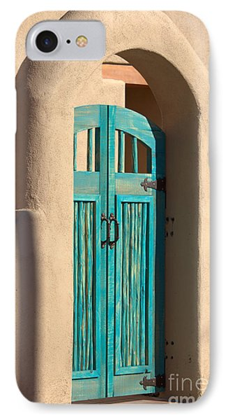 Enter Turquoise Phone Case by Barbara Chichester
