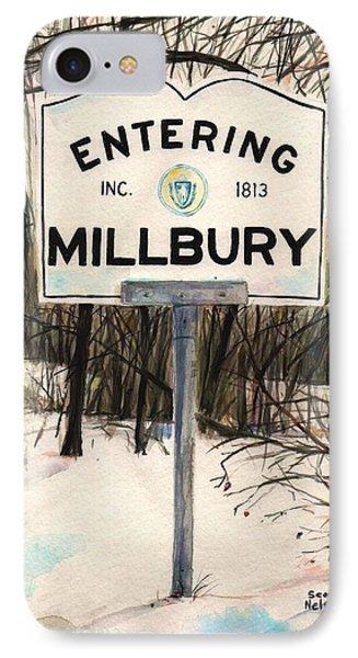 Entering Millbury IPhone Case by Scott Nelson