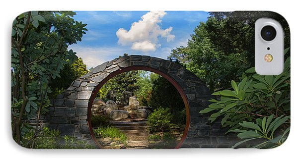 Entering The Garden Gate IPhone Case by Chris Flees