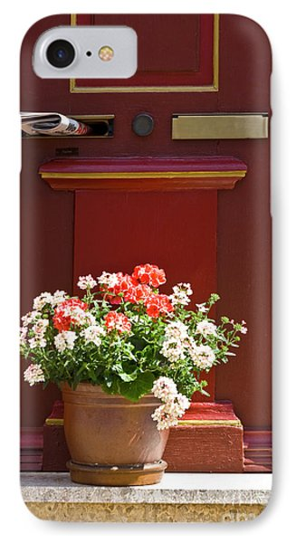Entrance Door With Flowers Phone Case by Heiko Koehrer-Wagner