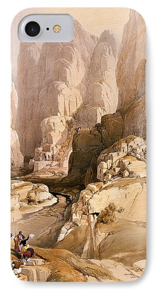 Entrance To Petra IPhone Case by David Roberts