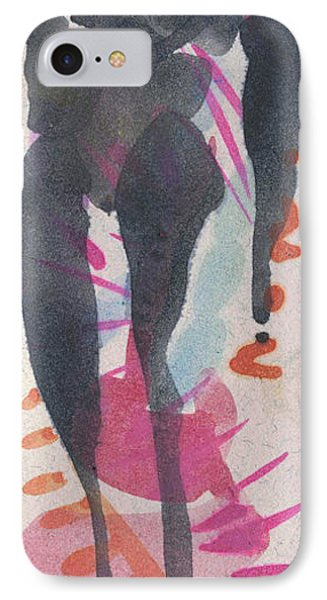 Entwined Figure Series No. 6  Your Back To The Drama Phone Case by Cathy Peterson
