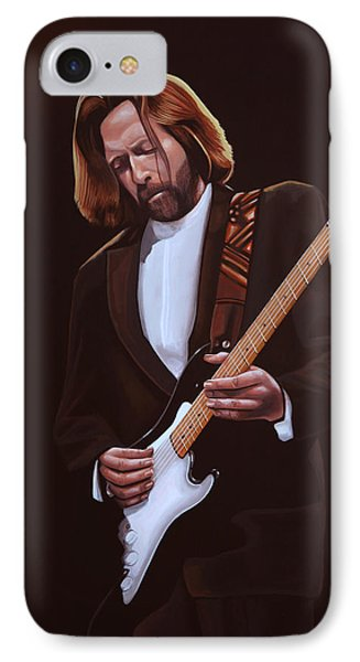 Eric Clapton Painting IPhone 7 Case by Paul Meijering
