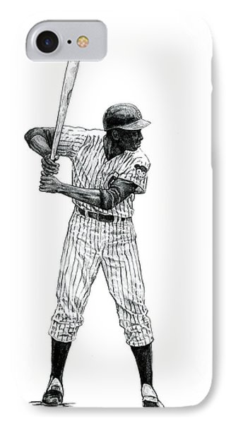 Ernie Banks IPhone Case by Joshua Sooter
