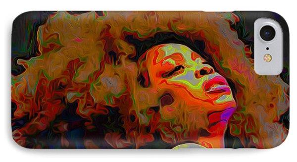 Erykah Badu IPhone Case by  Fli Art
