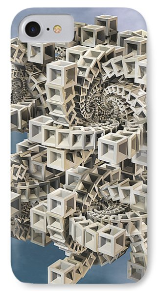 Escher's Construct IPhone Case by Manny Lorenzo