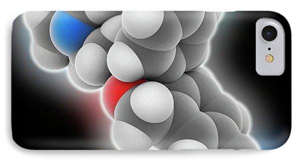 Escitalopram Drug Molecule IPhone Case by Laguna Design