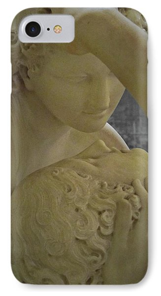 Eternal Love - Psyche Revived By Cupid's Kiss - Louvre - Paris IPhone 7 Case by Marianna Mills
