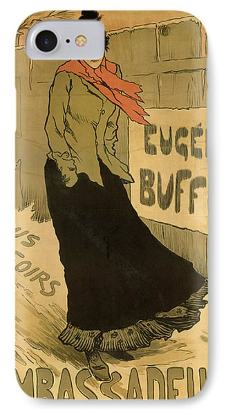 Eugenie Buffet Poster Phone Case by Lucien Metivet