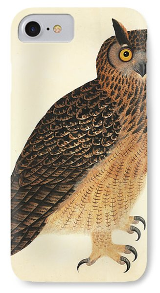 Eurasian Eagle-owl IPhone Case by Natural History Museum, London