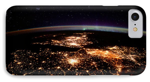 IPhone Case featuring the photograph Europe At Night, Satellite View by Science Source